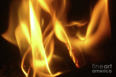 Photograph - Fire  Feuer by Eva-Maria Di Bella