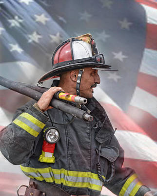 Photograph - Fire Fighter At The  End Of A Call by Jim Fitzpatrick