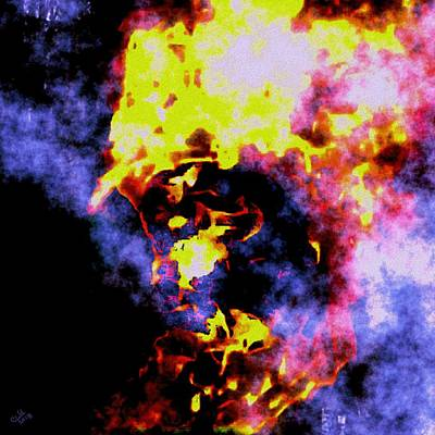 Digital Art - Fire Fighter by Cliff Wilson