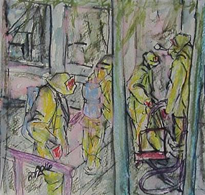 Painting - Fire Fighters by Barbara O'Toole