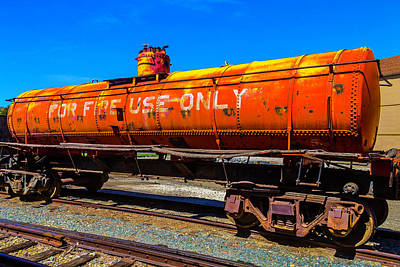 Tanker Wall Art - Photograph - Fire Fighting Tanker by Garry Gay