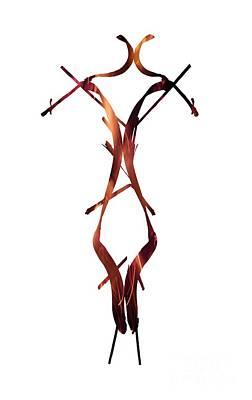 Vertical Photograph - Fire Figure by Prar Kulasekara