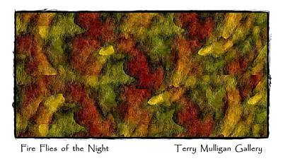 Fire Flies Of The Night Art Print by Terry Mulligan