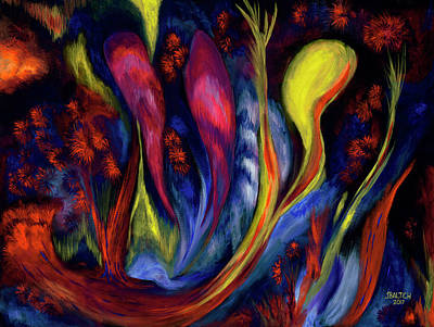 Digital Art - Fire Flowers by Joe Baltich