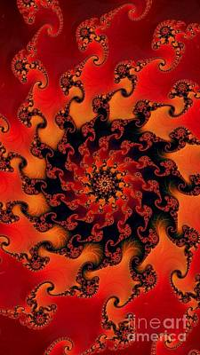 Digital Art - Fire Fractal  by Vicki Lynn Sodora
