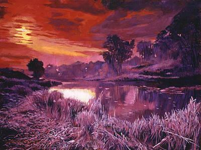 Fire Frost Original by David Lloyd Glover