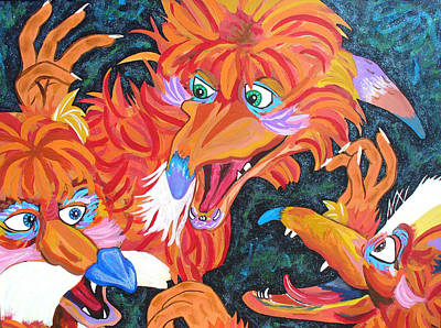 Painting - Fire Gang by Sarah Crumpler