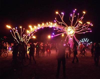 Electric Fire Garden Burning Man 2009 Art Print