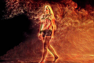 Digital Art - Fire Goddess 2 by Lisa Yount
