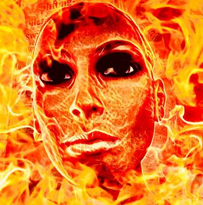 Mixed Media - Fire Goddess  by Elizabeth Hoskinson
