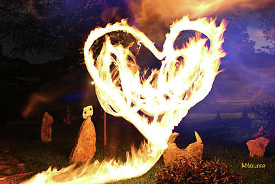 Photograph - Fire Heart by Andrew Nourse