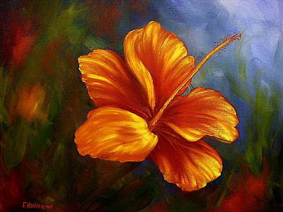 Painting - Fire Hibiscus by Francine Henderson
