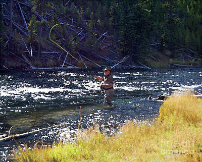 Yellowstone Digital Art - Fire Hole Hopes by Diane E Berry