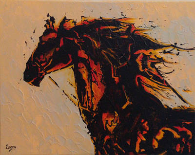 Fire Horse Art Print by Leena Kewlani