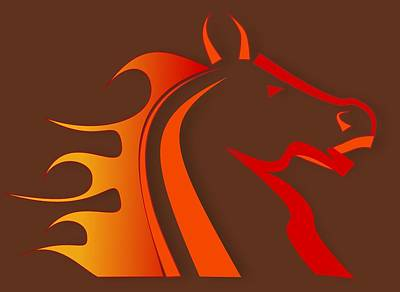 Animals Wall Art - Digital Art - Fire Horse by Scott Davis