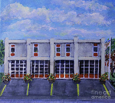 Painting - Fire House Under Clouds by Rita Brown