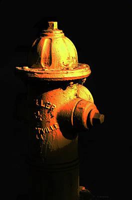 First Responders Wall Art - Painting - Fire Hydrant Art - Hot - Sharon Cummings by Sharon Cummings