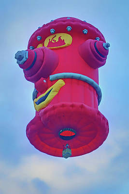 Photograph - Fire Hydrant - Hot Air Balloon by Nikolyn McDonald