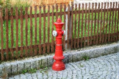 Digital Art - Fire Hydrant by Marc Champagne