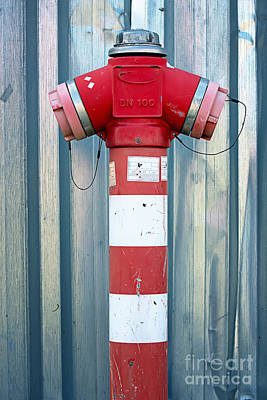 Fire Hydrant Steel Wall Art Print