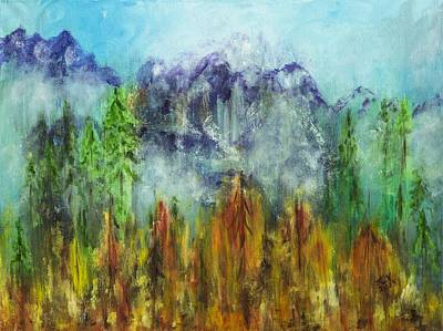 Painting - Fire In Glacier Park by Lucille  Valentino