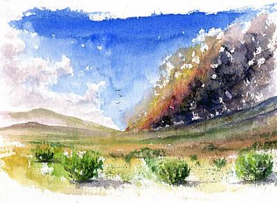 Fire In The Desert 1 Art Print
