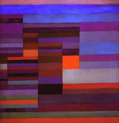 Fire In The Evening Art Print by Paul Klee