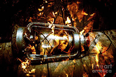 Gas Lamp Photograph - Fire In The Hen House by Jorgo Photography - Wall Art Gallery