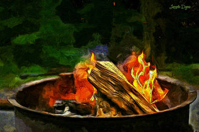 Barbecue Painting - Fire In The Pot - Pa by Leonardo Digenio