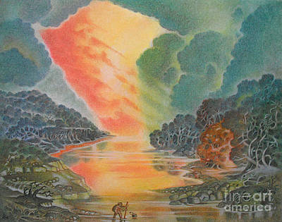 Pastel - Fire In The Sky 2 by Gary Renegar