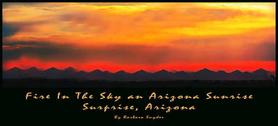 Fire In The Sky Art Print by Barbara Snyder
