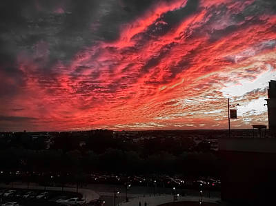Photograph - Fire In The Sky by Chris Montcalmo