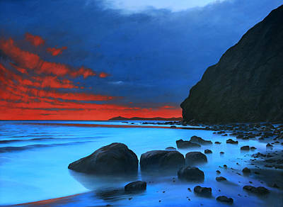 Painting - Fire In The Sky Dana Point by Cliff Wassmann