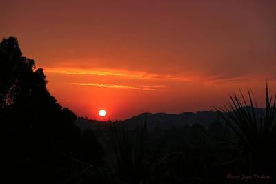 Photograph - Fire In The Sky El Sobrante by Joyce Dickens