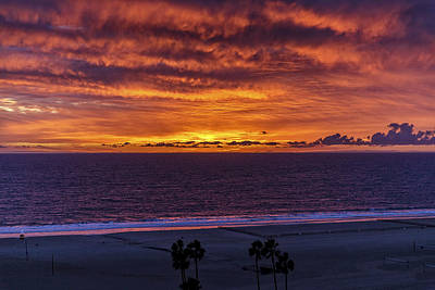 Photograph - Fire In The Sky by Gene Parks