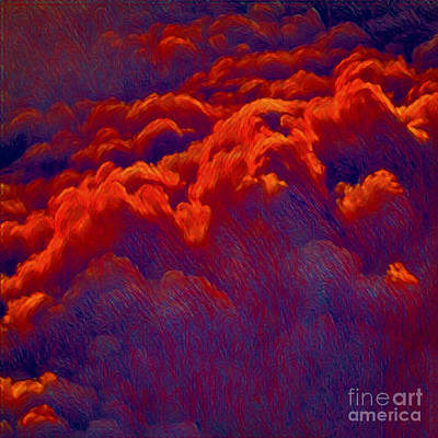 Photograph - Fire In The Sky by Gregory Dyer