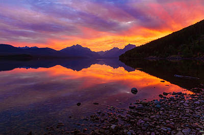 Photograph - Fire In The Sky by Jack Bell