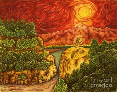 Fire In The Sky Art Print by Jamey Balester