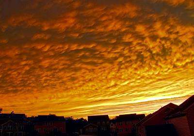 Photograph - Fire In The Sky by Jennifer Wheatley Wolf