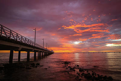 Photograph - Fire In The Sky by Keiran Lusk