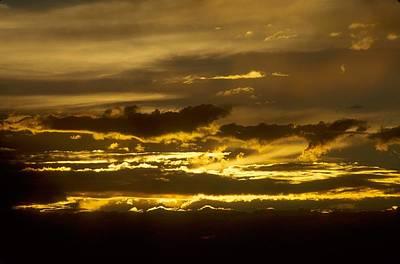 Fire In The Sky Art Print by Lynard Stroud