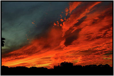 Photograph - Fire In The Sky by Michael Ziegler