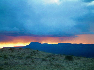Photograph - Fire In The Sky Mohave County Az by Bonnie Follett