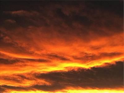 Digital Art - Fire In The Sky One by Michael Hurwitz