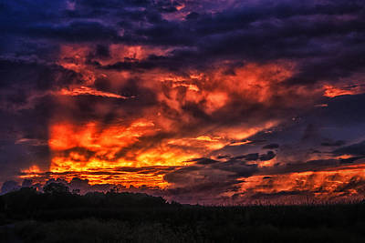 Photograph - Fire In The Sky Over Georgetown by Bill Swartwout