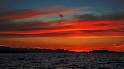 Photograph - Fire In The Sky by Randy Hall