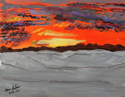 Painting - Fire In The Sky by Swabby Soileau