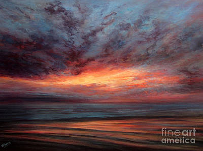 Fire In The Sky Art Print by Valerie Travers