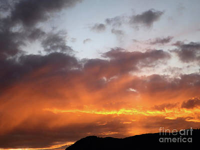 Photograph - Fire In The Sky by Victor K