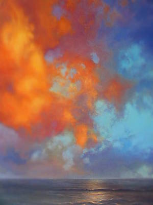 Painting - Fire In The Sky by Vivien Rhyan